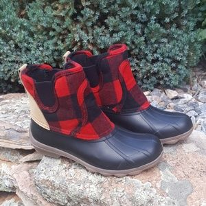 Sperry Syren Cove Wool Chelsea Buffalo Check Boot